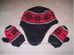 шапка И рукавицы OshCosh Bgosh, теплый зимный комплект