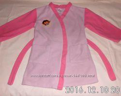 флисовый халат DORA для девочки 4-5 лет в отличном состоянии