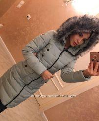 Женское зимнее пальто пуховик на холофайбере фабричный Китай новое