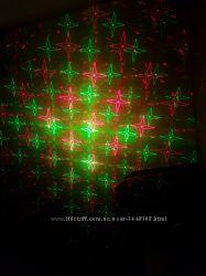 Лазерный проэктор-гирлянда звезды
