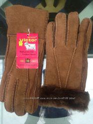 перчатки женские натуральная замша-овчинка S-M