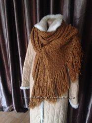 Шарф-капор-палантин фабричный длина 3м коричневый