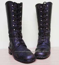 Ботинки зима натуральный нубук и мех стелька 25см
