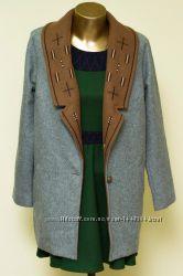 Дизайнерское пальто бойфренд оверсайз aporia. as эксклюзив демисезон