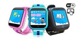Умные детские часы Q100S с GPS трекером Гарантия