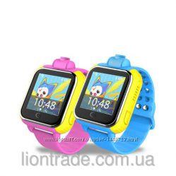 Умные детские часы Q200 с GPS трекером Гарантия