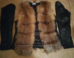 Шубка куртка жилетка лиса транформер нова рукава відчіпаються заміри скину