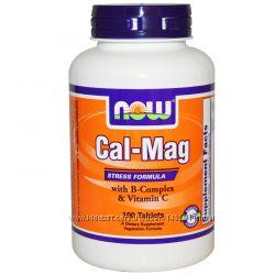 Антистресс Формула Комплекс Кальций и Магний Cal Mag, 100 шт, Now Foods