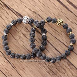 Красивые мужские браслеты со львом. Для подарка
