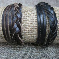 Стильный браслет, кожа