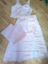 Нарядный, бальный, выпускной комплект юбка, корсет, шаль 11-14лет