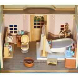 Sylvanian Families туалетная комнаты Мебель Happy Family