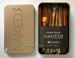 Набор кистей Naked 3 в маталлической коробке 11шт