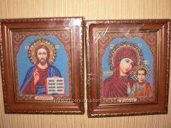 Иконы Венчальная пара чешский бисер