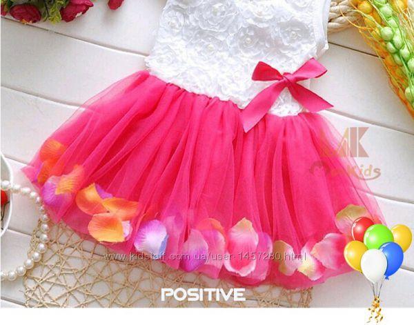 Детское платье для малышек от 6 до 12 месяцев