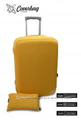 чехол на чемодан жёлтый