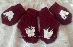 Комплект для девочки - царапки и носочки с бабочками