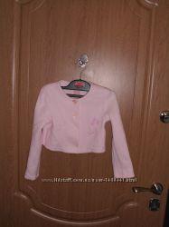Розовое болеро б. у для девочки на рост 110 см