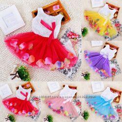 Платье фатиновая юбка пачка лепестки платье