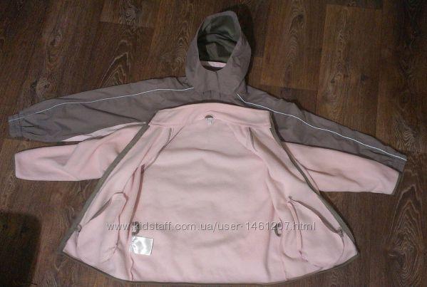 демисезонная термо-куртка ветровка 3 в 1, р. 134-140см