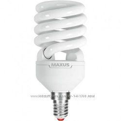 Энергосберегающая лампа Maxus 15w 2700k e14
