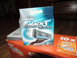 Лезвия Gillette Mach 3 Turbo - 8шт в упаковке