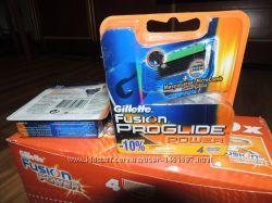 Лезвия Gillette Fusion Proglide Power - 4шт в упаковке