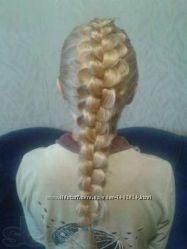 Обучение плетение кос, наращивание волос