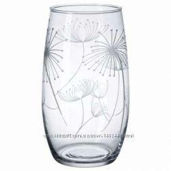 Ваза, прозрачное стекло, с рисунком, 25 см от ИКЕА