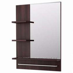 Зеркало, черно-коричневый, 60x11x78 см от ИКЕА