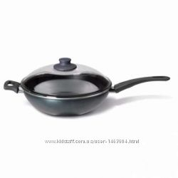 Вок-сковорода c крышкой, серый, 28 см от ИКЕА