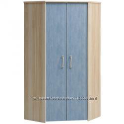 Продам шкаф для одежды угловой пр-во Польша новый цвет джинсклён