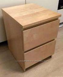 Модный комод с 2 ящиками, дубовый шпон, беленый ИКЕА