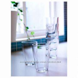 Отличный набор прозрачных стаканов. новые. ИКЕА