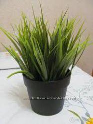 Прекрасная искусственная трава в горшке ИКЕА