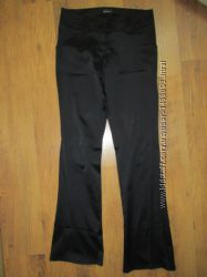 Черные атласные брюки &92 штаны ORSAY размер S