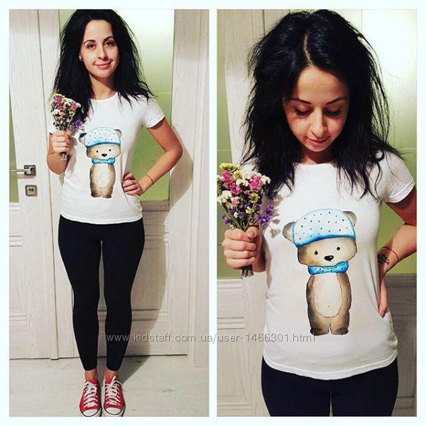 Жіноча футболка з ручним розписом 1385e8f92b193