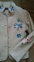 пиджак жакет вышивка мешковина оригинал Франция