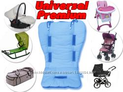 Универсальные матрасики на все виды детских колясок разные цвета