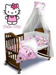 Комплект постельного белья Hello Kitty Classic с балдахином и без