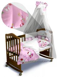 Комплект постельного белья Hello Kitty Premium с балдахином и без