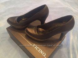 Туфли vicino, натуральная кожа, 38 размер , черние
