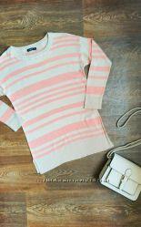 Стильная нежная кофта свитер фирма ostin размер xs бежевый розовый цвет
