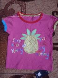 Новая фирменная футболка Early Days для девочки 9-12 месяцев