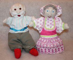 Кукольный театр  игрушка на руку перчатка Баба