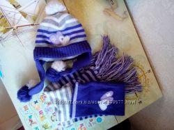 комплект зимний Wojcik шапка шарф 49-54 девочке