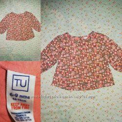 Кофта-туничка на девочку Tu 6-9 месяцев