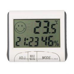 Термометр гигрометр часы будильник