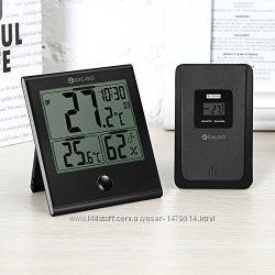 Метеостанция с беспроводным датчиком, гигрометр термометр часы