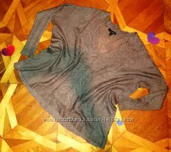 Тонкий и теплый свитшот из мохера с косами от Mango, р. 14